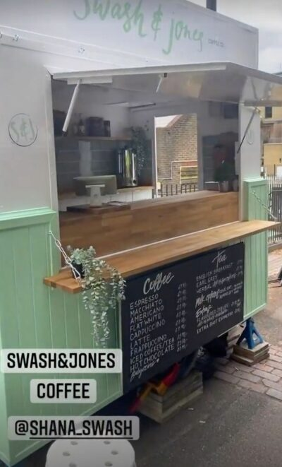 Joe Swash shared a picture of his sister Shana's new coffee business