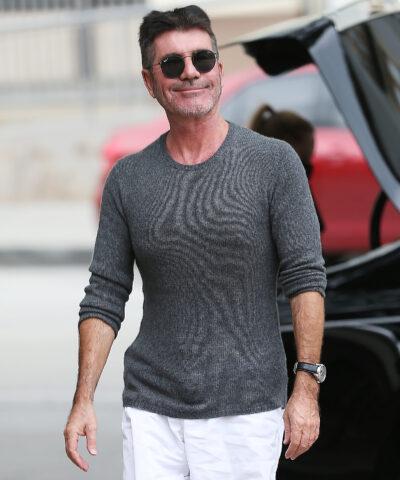 Simon Cowell smiles as news of The X Factor cancellation