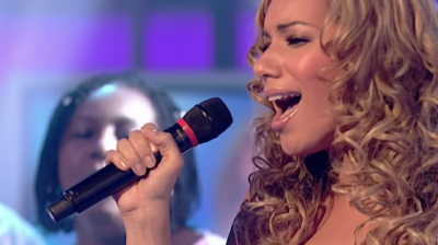 Leona Lewis on her way to winning The X Factor in 2006