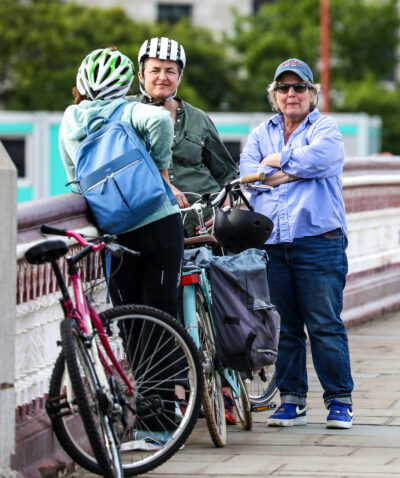Sandi Toksvig and her wife on a day out
