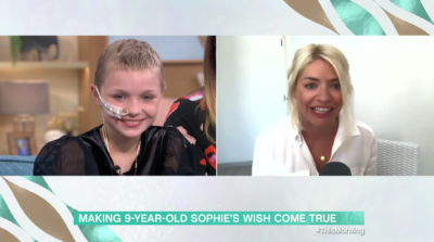 Sophie on This Morning was surprised by Holly Willoughby