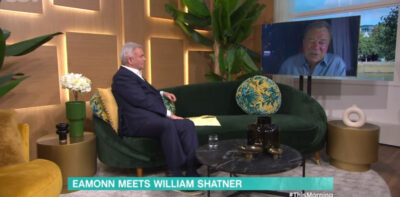 This Morning today, Eamonn Holmes interviews william shatner