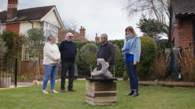 Neil and Barbara with their doorstop on Fake Or Fortune
