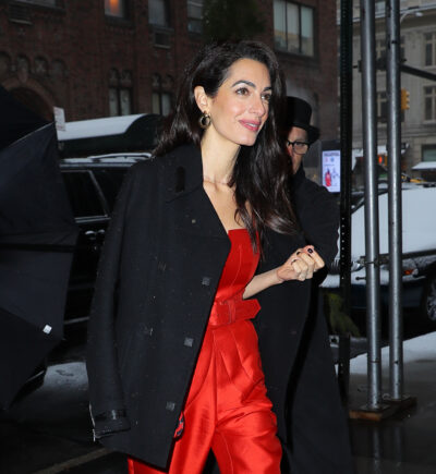 George Clooney wife on a night out