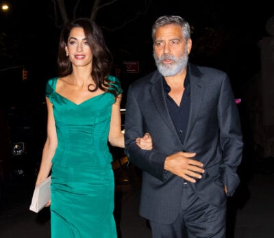 George Clooney and wife Amal