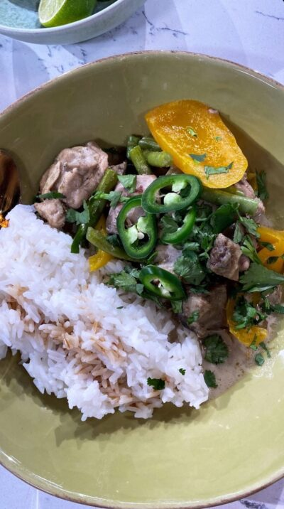 Rochelle This Morning: Star cooked her Thai green curry