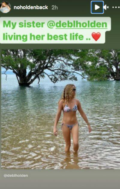 Amanda Holden's sister Debbie pictured in a bikini