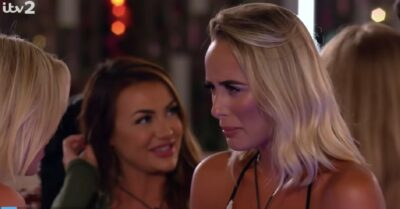 Love Island's Millie reacts to Lillie's Liam bombshell