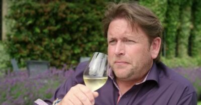 James Martin drinks during James Martin's Islands To Highlands
