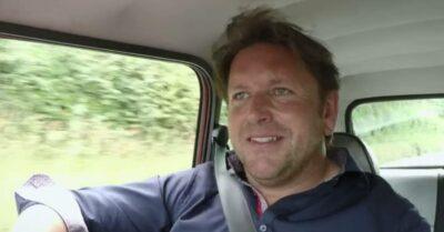 James Martin drives during James Martin's Islands To Highlands