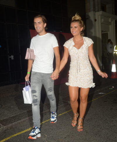 Dani Dyer and Sammy Kimmence hold hands in London