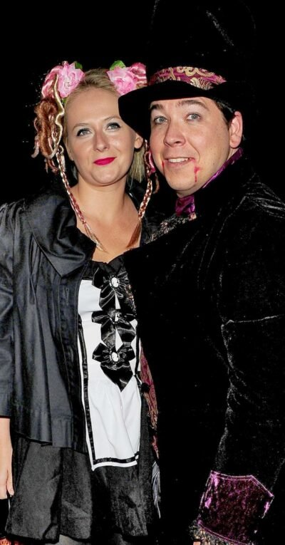 Michael McIntyre and his wife Kitty in fancy dress