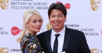 Michael McIntyre attends with BAFTAs with his wife Kitty