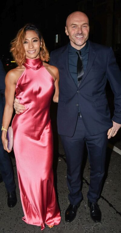 Simon Rimmer at an awards bash with Strictly Come Dancing partner Karen Clifton
