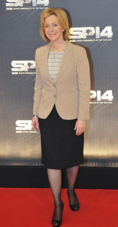 Hazel Irvine at a red carpet event