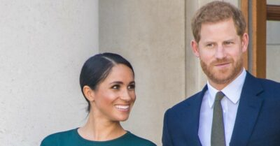 Meghan Markle and Prince Harry face the cameras