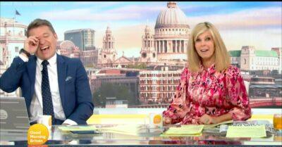 Kate Garraway and Ben Shepherd laughing on Good Morning Britain