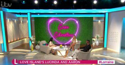 Christine Lampard presenting on Lorraine