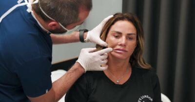 Katie Price Instagram - star documents facelift produre
