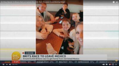 Rebecca Dean con su esposo e hijos en GMB México