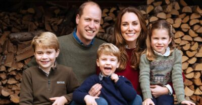 The Cambridges pose for their Christmas card