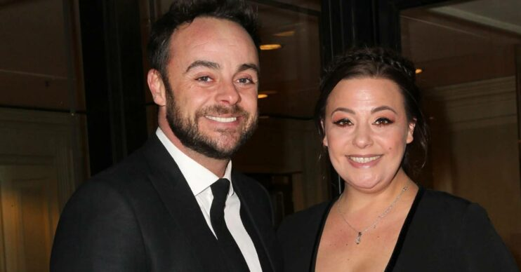 Ant McPartlin and Lisa Armstrong smile for the camera