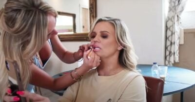 Kerry Katona has her make up done
