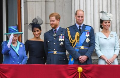 William and Kate with Meghan and Harry