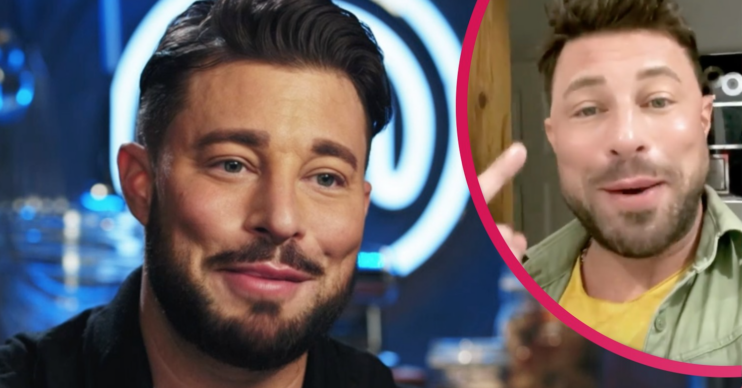 Duncan James appeared on Celebrity MasterChef but viewers were drawn to his eyebrows