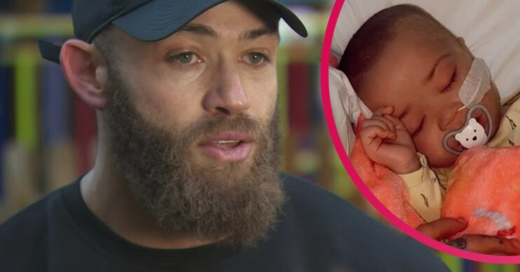 Ashley Cain with inset of daughter Azaylia Cain