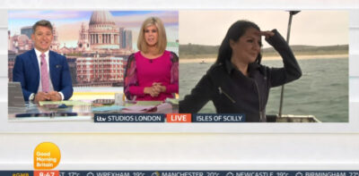 GMB today: Laura Tobin hosts from boat