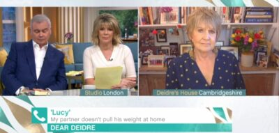 This Morning host Ruth Langsford with Eamonn Holmes