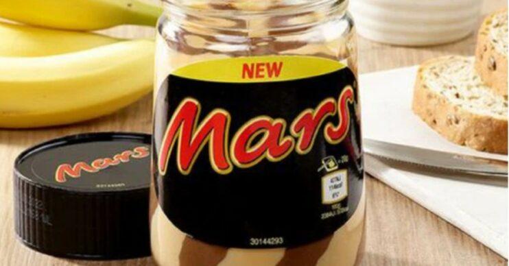 New Mars bar flavour spread in a jar