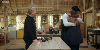 The Repair Shop star Helen Bannan comforted by Jay Blades