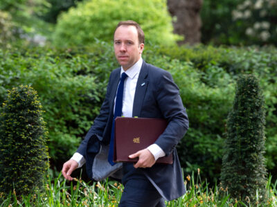 Matt Hancock arrives for Cabinet meeting in London