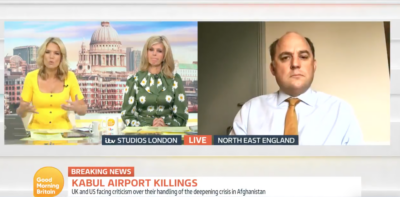 Viewers noticed Kate Garraway and Charlotte Hawkins speaking over each other on GMB