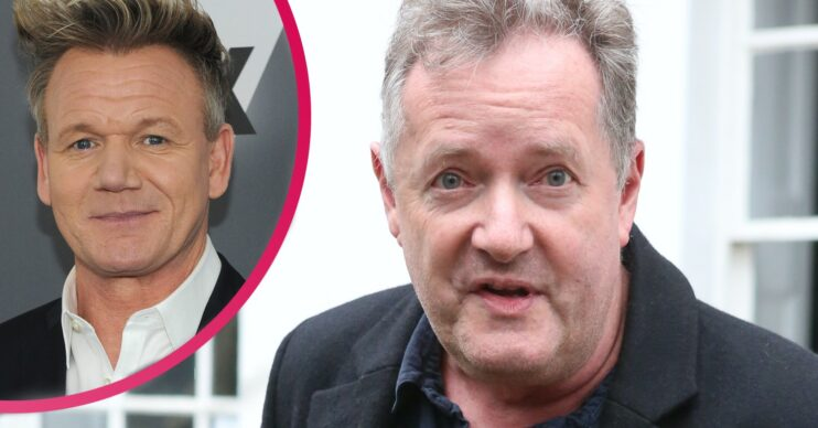 Gordon Ramsay was voted ahead of Piers Morgan in a sexiest male poll and the host fumed on Twitter
