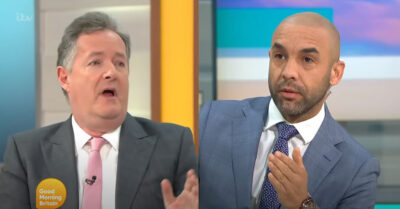 Piers Morgan on GMB with Alex Beresford