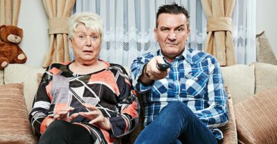 Lee Riley on Gogglebox on the show with pal Jenny