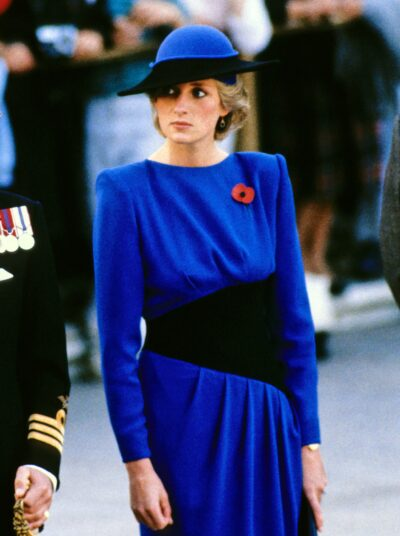 Princess diana stuns in blue dress during royal engagement
