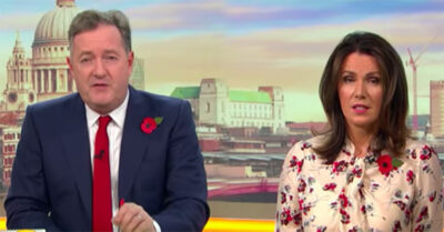 The latest Piers Morgan news as he appears on Good Morning Britain with Susanna Reid
