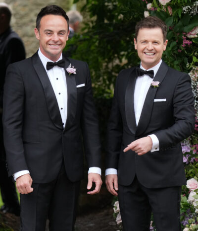 Ant McPartlin and Declan Donelly in tuxedo suits