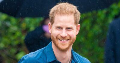 Prince Harry smiles
