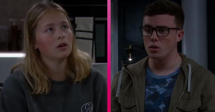 Emmerdale stars Isobel Steele and Bradley Johnson