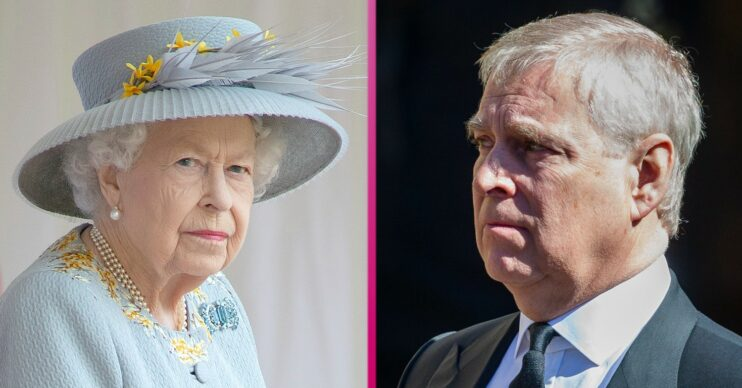 The Queen and Prince Andrew both look glum