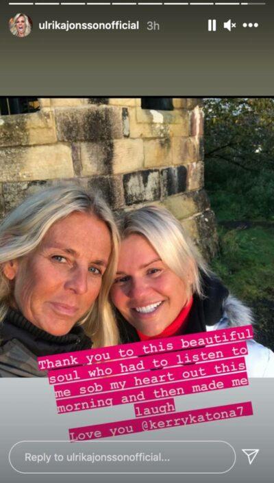 Kerry Katona and Ulrika Jonsson pose for a selfie
