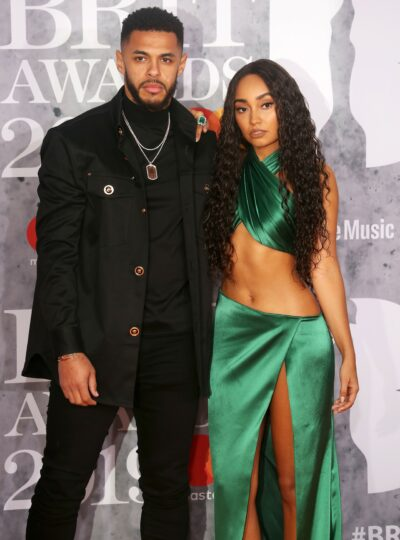 Leigh-Anne Pinnock and Andre Gray on the red carpet