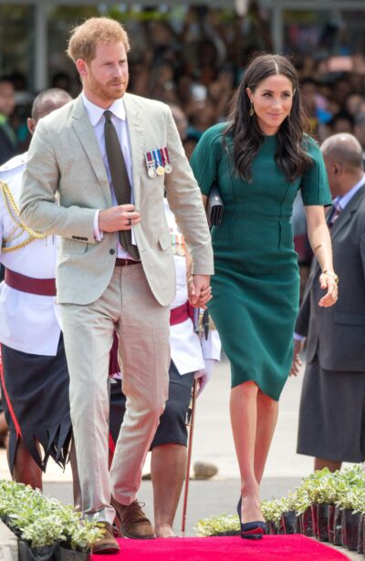 Prince Harry and Meghan Markle during a royal engagement