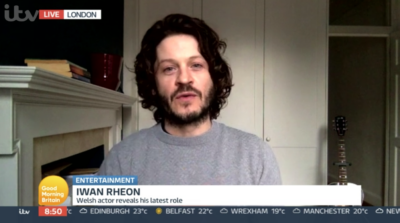 Actor Iwan Rheon appeared on Good Morning Britain today