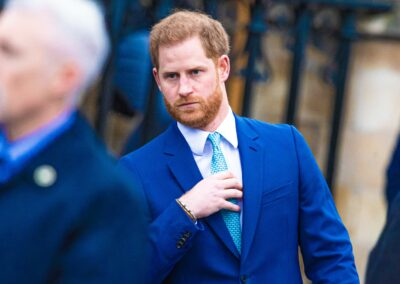 Prince Harry looks sombre during royal engagement